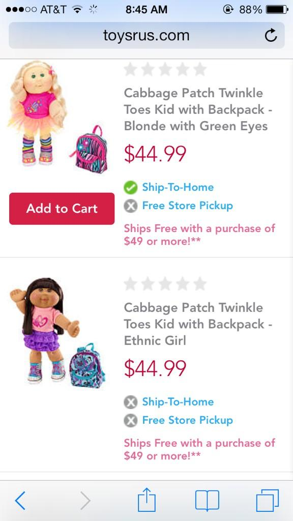 . @ToysRUs @cpkusa @SKECHERSUSA can you please reword this ad to make it not offensive? From TRU website. Thanks. http://t.co/Gm0zrgNk8N