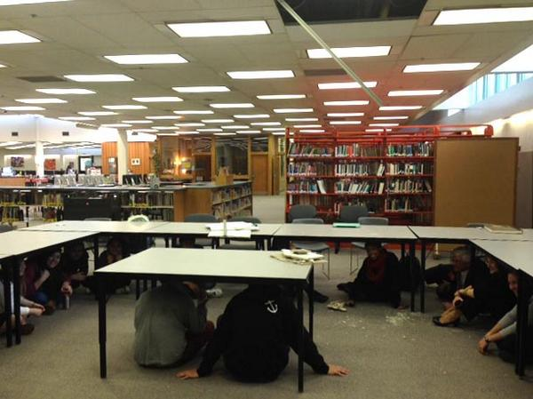 A few schools sustained minor damage, mostly to ceiling tiles. All students are safe. #akquake http://t.co/TfTjBlAnLP