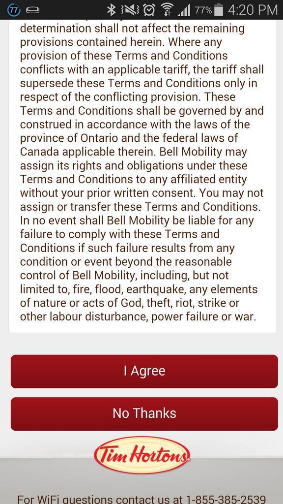 Tim hortons wifi agreement gallery agreement letter format tim hortons wifi agreement platinumwayz