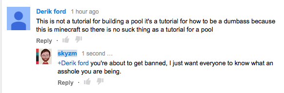 Pro tip: don't post comments like this http://t.co/ubyiUuC6mt