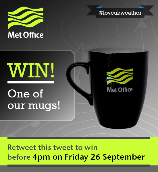 Got that Friday feeling? RT to win a mug! Closes 4pm today. T&Cs: http://t.co/vaUt6eguJe #loveukweather http://t.co/9sFZkDzJjC
