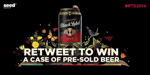 Retweet & you could win a case of @blacklabelsa beer to collect at #RTD2014 http://t.co/pkD8cwYbRz http://t.co/qriRpYEtFU