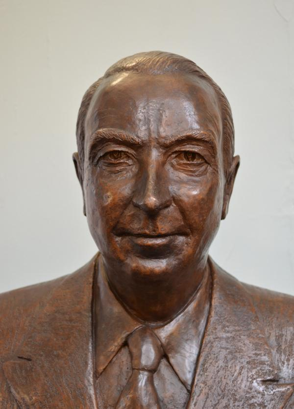 The bronze bust of aviation pioneer Sir Thomas Sopwith