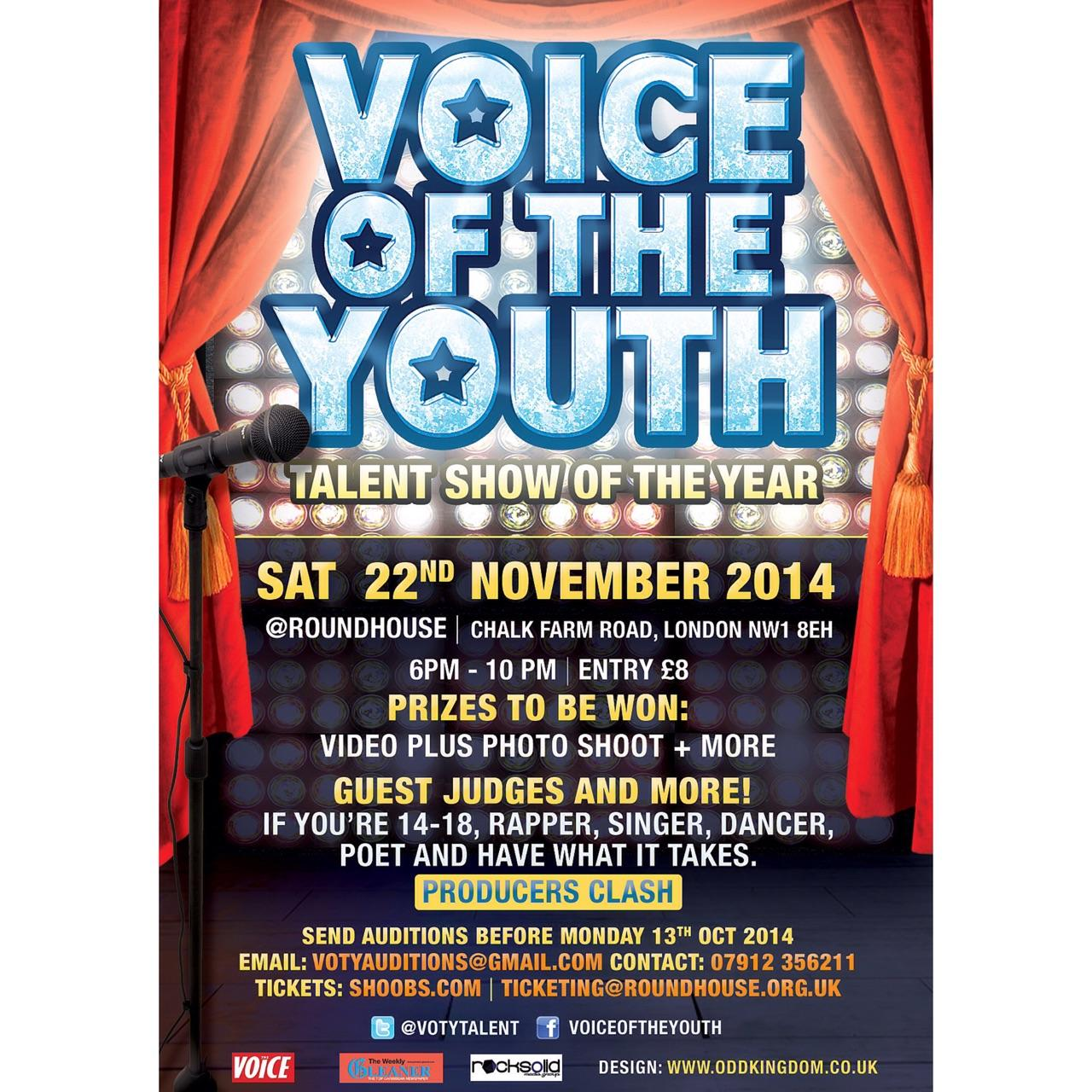 "RT @TEAMLAUGHTA_HBN: @ShabbyKatch [AGES 14-18 EVENT]""VOICE OF THE YOUTH"" @ THEROUNDHOUSE 22ND NOV. Ticket's-> http://t.co/IeqEvoTfMi  http:…"