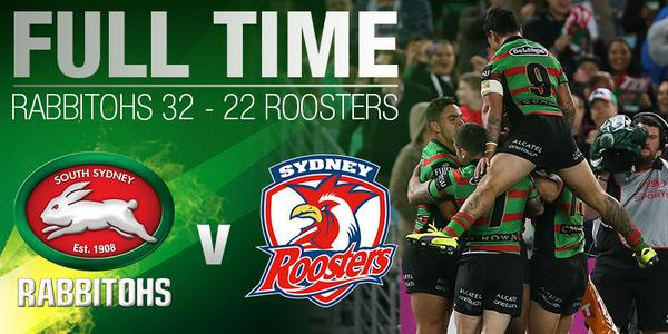 FULL TIME!!! The Rabbitohs are heading to the GRAND FINAL!!! #GoRabbitohs #NRLFinals #BringTheNoise http://t.co/9GvRg0qAn0