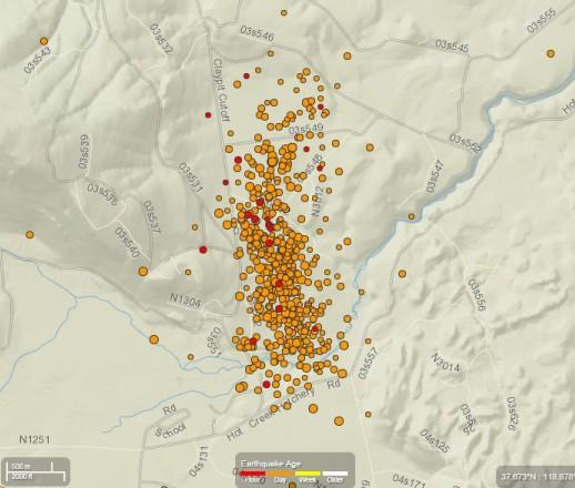 More than 700 earthquakes swarm Mammoth Lakes: Map tells the story