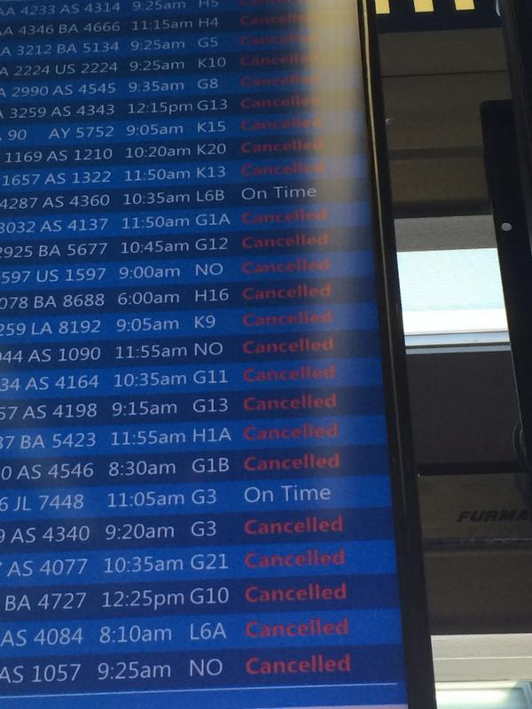 Flights resume, but this could take a while. @wlsam890 http://t.co/iZdkuS7WC9