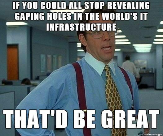 Message from the intelligence community #Derbycon #tps #officespace http://t.co/LbjAJnlpem