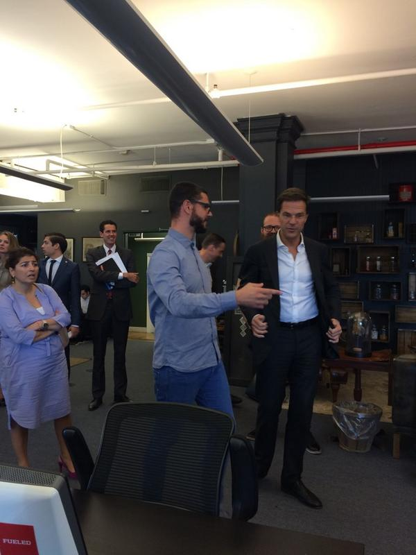 Dutch Prime Minister Mark Rutte is in the house visiting @yourKarma! Here he is with Karma cofounder @stevenvanwel http://t.co/4b9CGtfPpO