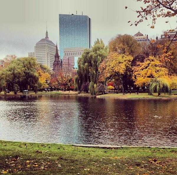 Can't beat Boston in Autumn. #Boston #PublicGarden #PhotoFriday (photo by Molly Stern, MA '15) http://t.co/NVF9DftOcO