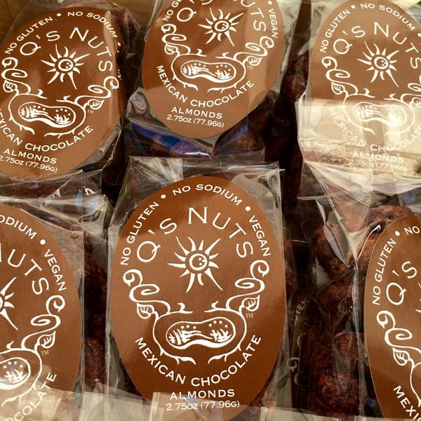 Can't get enough of @qsnuts Mexican chocolate almonds! Stop by the #FarmersMarket for a taste, they're here till 6pm! http://t.co/QGY6dwGNVZ