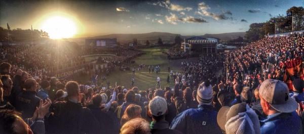 First tee this morning #RyderCup2014 http://t.co/8ZifNuueGD