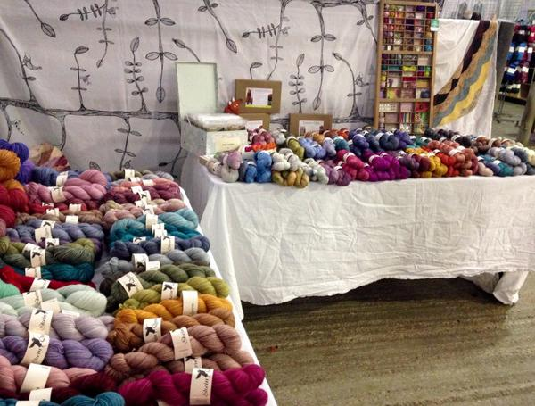 All set up and ready to rock n roll at #yarndale http://t.co/bHo7D8rHMI