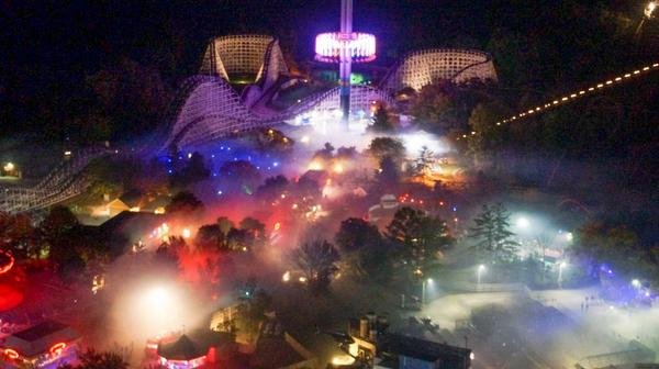 bioreconstruct on twitter view from eiffel tower shows how heavy kings island is filled with halloween haunt fog httptcoma3mewvyhu
