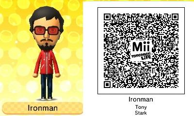 Rob Martin On Twitter Tony Stark Ironman Tomodachi Life Qr Code