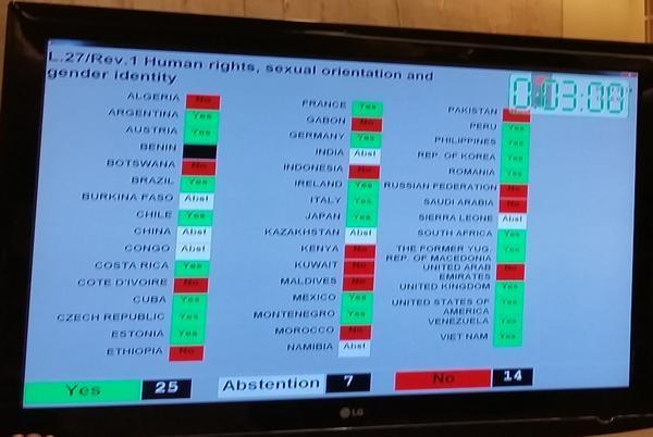 Maldives votes NO to UN HRC resolution to combat violence & bias based on sexual orientation & gender identity. http://t.co/2T7bx6ZMGs