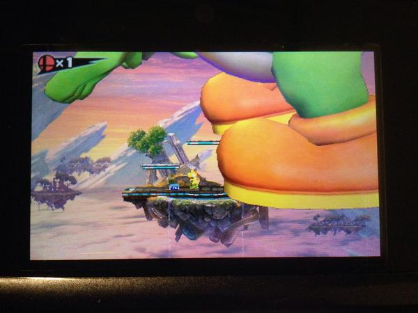 Super Smash Bros. for 3DS's humongous-character glitch is also in the North American version