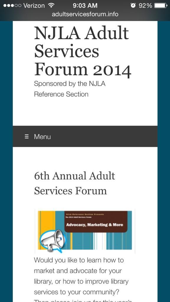 Thumbnail for NJLA Adult Services Forum