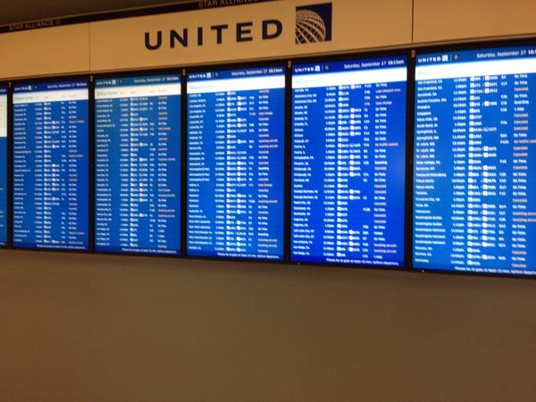 A handful of flights cancelled or delayed still at ORD; take note of you're leaving #ONA14 today! #TSAtime http://t.co/vrUUsKO0cj