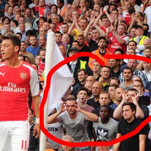Tottenham fans troll Arsenal's Mesut Ozil making fun of
