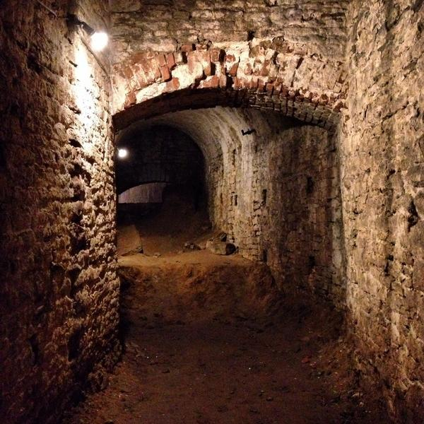 Underground tour of old brewery tunnels in Over-the-Rhine. Holy business. @cincyusa @cincinnatiusa #cincygram http://t.co/pQNecLpbsU