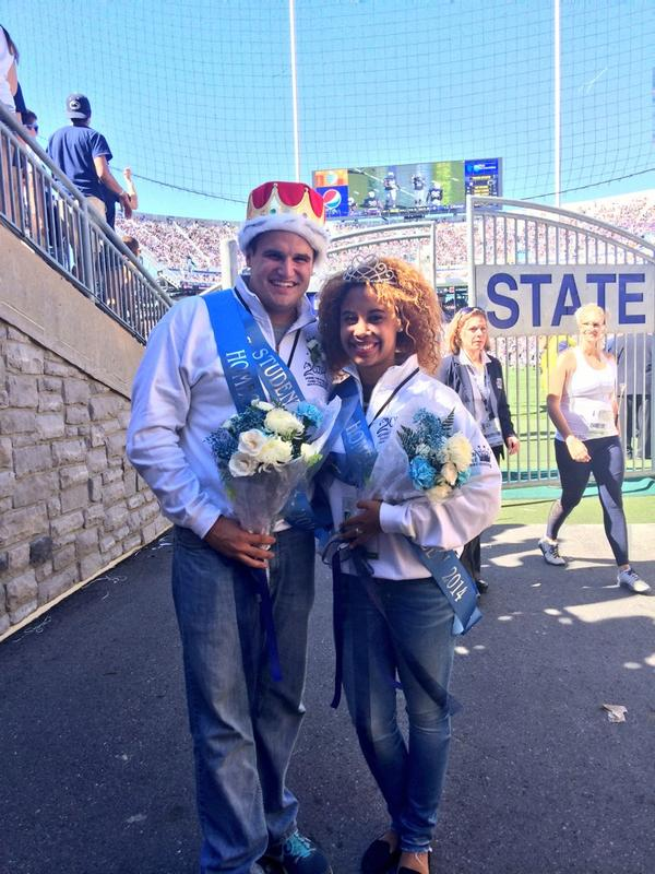 Congratulations to our 2014 Homecoming King and Queen: Kevin Bunce and Kenya Crawford! #FTG2014 http://t.co/FlYOaukQbc
