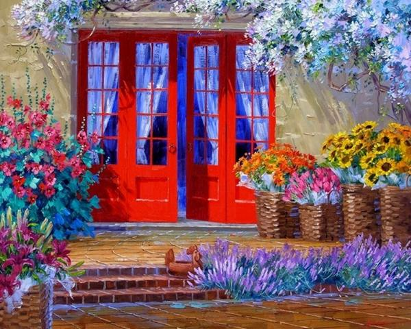 My color therapy by Mikki Senkarik.  #painting via @Dayafter2012 @AntikHotelist  http://t.co/UD07EeB63x