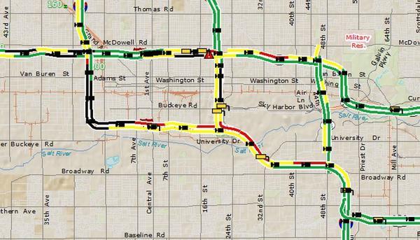 Traffic Map Phoenix Arizona DOT on Twitter: