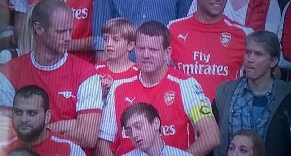 It could be worse, you could have turned up to the match as a fully grown man in a captain's armband. http://t.co/UWlGJPyItI