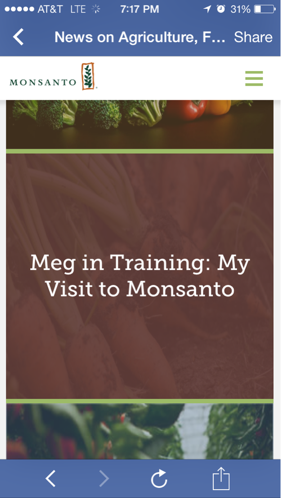 One of my blog posts linked on Monsanto's website…it's been there a while but it still makes me proud! http://t.co/7XTRCc67ZG