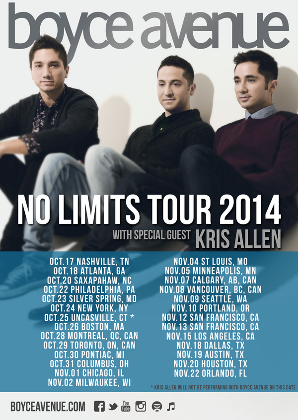 Share this graphic to help spread the word about @KrisAllen's fall tour with @BoyceAvenue! http://t.co/5huqB2p2rm