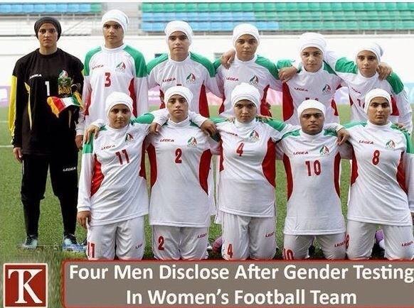 そんなバカな笑 RT @InhyeokYeo: イラン女子サッカー代表に4人男性がいて一時的資格停止ってのがあったけど、10番は騙せるとでも思ったのだろうか http://t.co/MLwxS1F4SZ