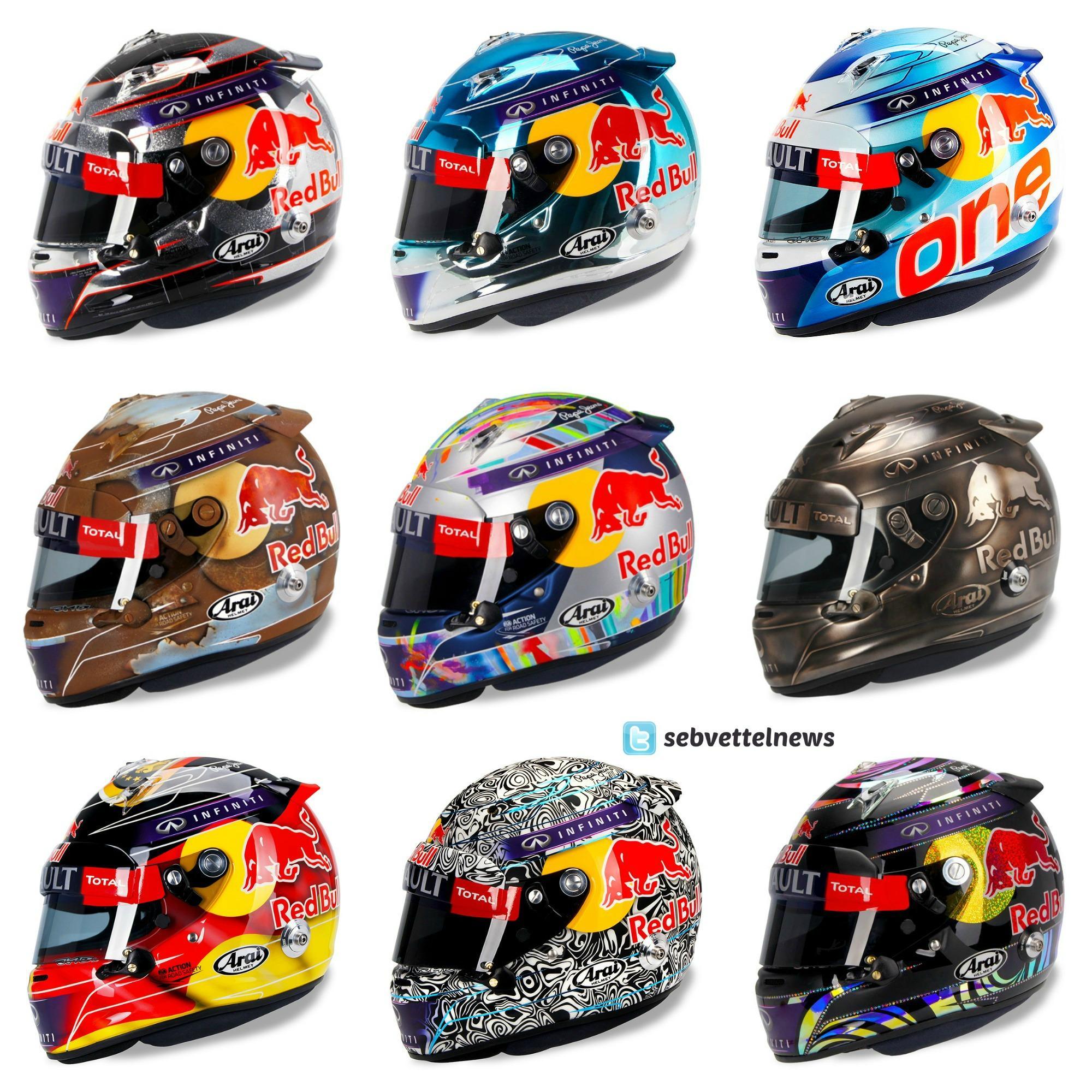 Sebastian Vettel Helmet 2014 Sebastian Vettel #5 on...