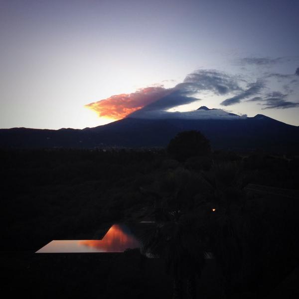 Pool reflection #Etna #infinity #pool #authenticsicily #2015 @ThinkVillas