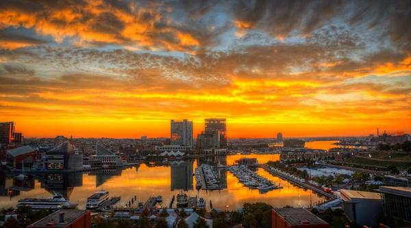 Spectacular Sunday Sunrise over Baltimore thanks to @timshahanrn http://t.co/INim3YtBqx
