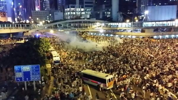 Please stay safe everyone. What a mess, but we will not back down! #hkproblems http://t.co/UiZ5QB4q7t