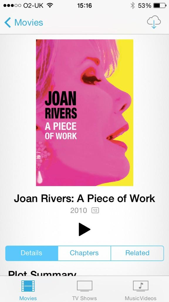 Hey if ya like Joan rivers ya gotta watch this http://t.co/y8Ag9tYN1B
