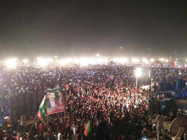 Mobile flash light show. Lol! This is so awesome! #Lahore4PTI #PTI http://t.co/s4SpRsBmsI