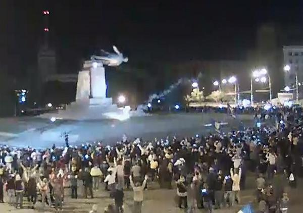 Харьков. площадь Свободы (первая по величине в Европе и вторая в мире)