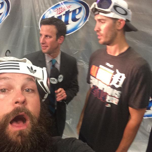 YEP this is happening @RickPorcello #alcentralchamps http://t.co/ApcYTA3qgO