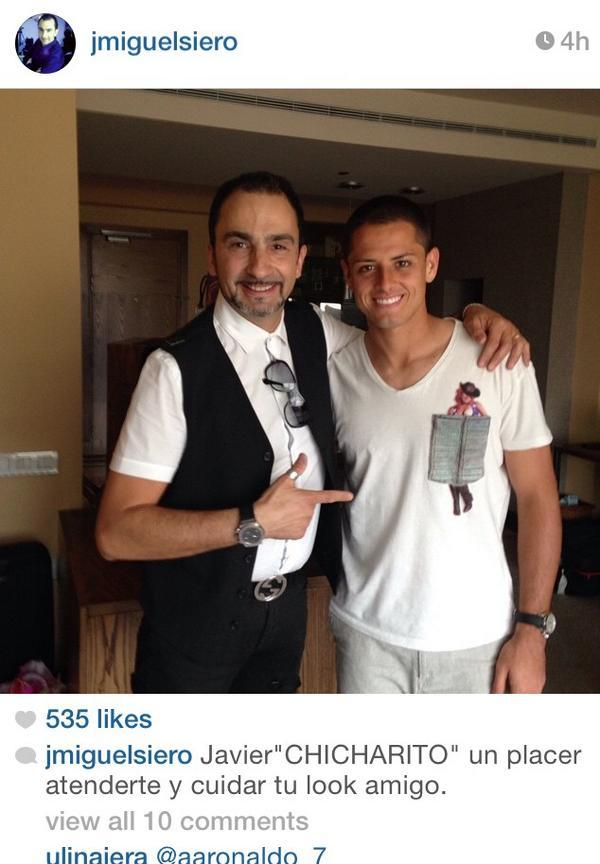 Cristiano Ronaldo On Twitter Pic Chicharito James Went To