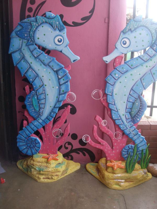 Icopor fiesta on twitter caballitos de mar para for Decoracion de pared para 15 anos