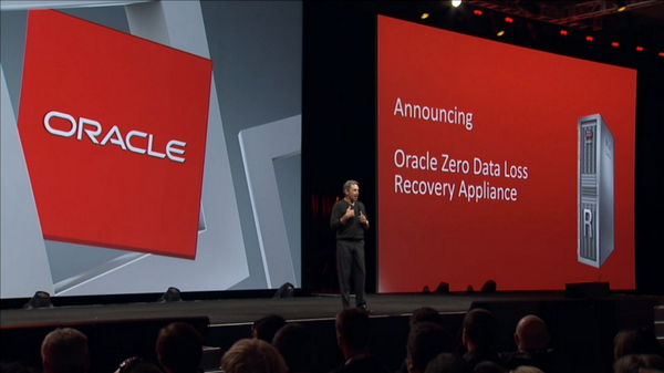 Larry: Announces Zero Data Loss Recovery Appliance. #oow14 don't lose any data, it's fast, cheap; it is a no brainer. http://t.co/dxMGyJBZDs