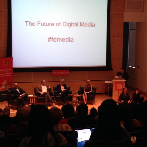 The #fdmedia panel is running on jetlag and adrenaline as the discussion begins. #NewhouseStudio http://t.co/XxAZllATp0