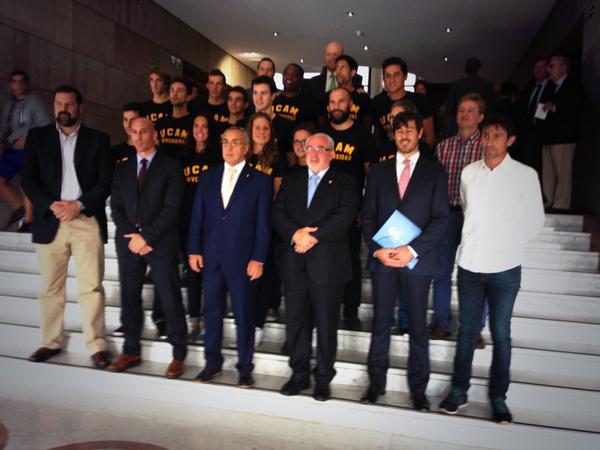 Foto oficial de presentación de nuevos olímpicos UCAM en el @COE_es http://t.co/gx524Zug61