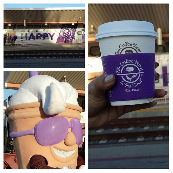 Happy #NationalCoffeeDay! This morning @thecoffeebean greeted @metrolink riders with free coffee & more! #cbcoffeeday http://t.co/Pv81ZEqkjN