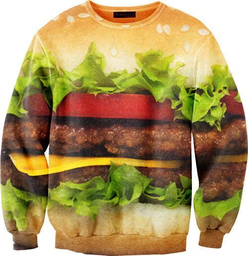 これを着る勇気…いやハンバーガーは着れる。ポテトにはケチャップを。全面フライドポテトプリントのスウェットがおもしろい。ハンバーガーとポップコーンのデザインも紹介。 iseebitarou.ldblog.jp/archives/21205… pic.twitter.com/E9FUBJRuZu
