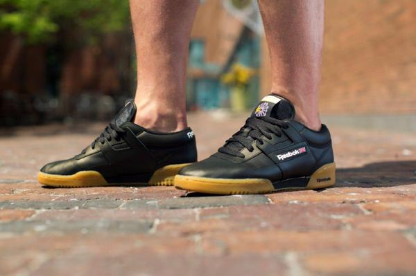9197fa6bc9f90 timeless design classic fitness heritage reebok workout low black with gum  bottoms avail at champssports