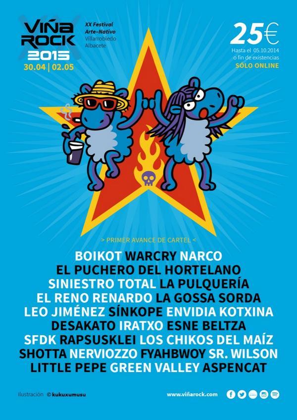 Confirmados para el @VinaRockOficial #ConfirmacionesVR2015 http://t.co/HhPXq6WIra