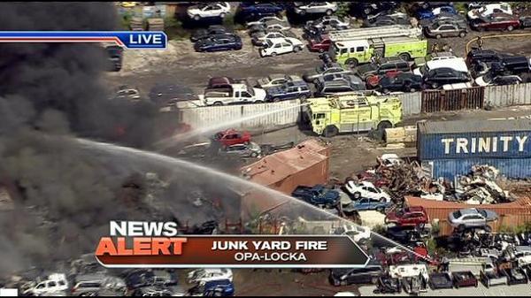 Opa Locka Junkyard >> UPDATE: Foam truck from Opa-Locka Airport is on scene at